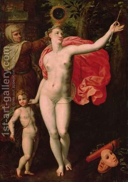 Venus and Cupid, Allegory of the Truth by Jacques de Backer - Reproduction Oil Painting