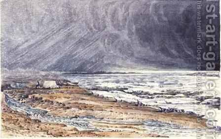 Thunderstorm near Point Ogle by Sir George Back - Reproduction Oil Painting