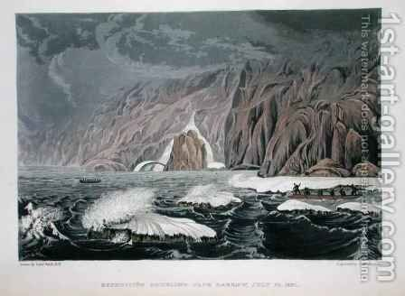Expedition doubling Cape Barrow by (after) Back, George - Reproduction Oil Painting