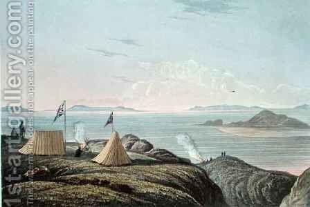 View of the Arctic Sea from the Mouth of the Coppermine River, Midnight by (after) Back, George - Reproduction Oil Painting