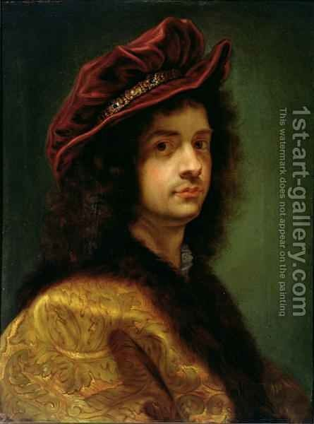 Self Portrait by Il (Giovanni B. Gaulli) Baciccio - Reproduction Oil Painting