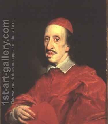 Portrait of Cardinal Leopold de Medici by Il (Giovanni B. Gaulli) Baciccio - Reproduction Oil Painting