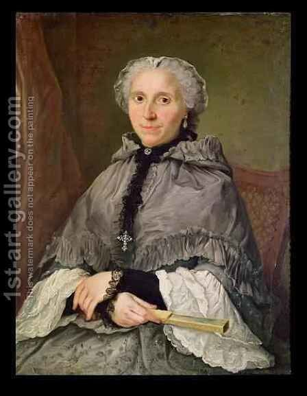 Portrait of a Woman in Grey by Jacques-André-Joseph Aved - Reproduction Oil Painting