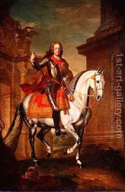 Kaiser Charles VI by Johann-Gottfried Auerbach - Reproduction Oil Painting