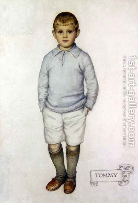 Portrait of Tommy by Maud Tindal Atkinson - Reproduction Oil Painting