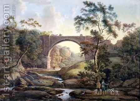 View of Tanfield Arch in the County of Durham by James Atkinson - Reproduction Oil Painting