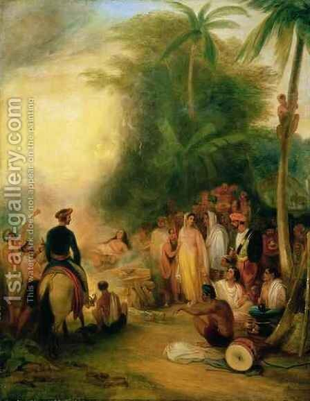 Foster 165 (82) Suttee or Widow-sacrifice Burning by James Atkinson - Reproduction Oil Painting