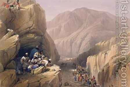 The Wild Pass of Siri-Kajoor, from 'Sketches in Afghaunistan' by (after) Atkinson, James - Reproduction Oil Painting