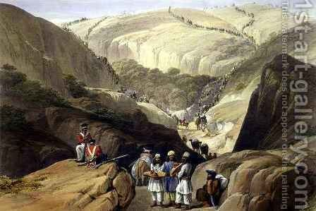 The First Descent Through the Koojah Pass by (after) Atkinson, James - Reproduction Oil Painting