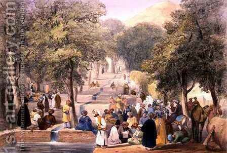 The Avenue at Baber's Tomb, from 'Sketches in Afghaunistan' by (after) Atkinson, James - Reproduction Oil Painting