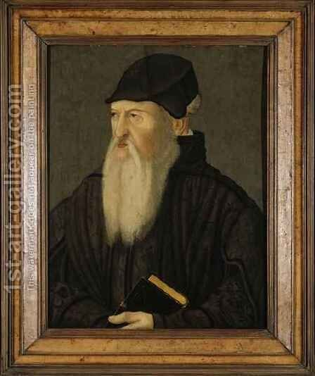 Portrait of Theodore Beza by Hans Asper - Reproduction Oil Painting