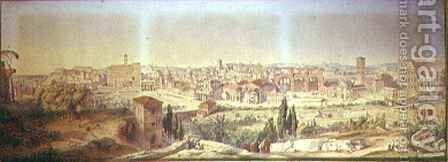 Rome As It Is, from the Palatine Hill by Arthur Ashpitel - Reproduction Oil Painting