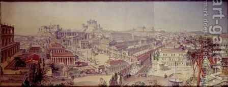 Rome As it Was, Restored After Existing Remains by Arthur Ashpitel - Reproduction Oil Painting