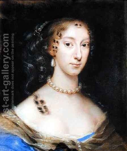 Portrait of a Nobleman's Wife by Edmund Ashfield - Reproduction Oil Painting