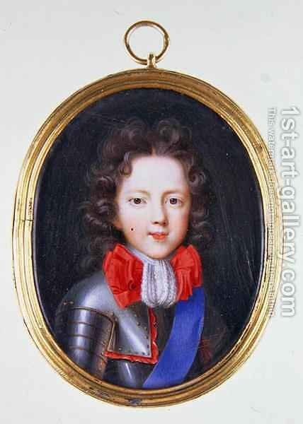 Miniature of James Stuart, the Old Pretender by Jacques Antoine Artaud - Reproduction Oil Painting