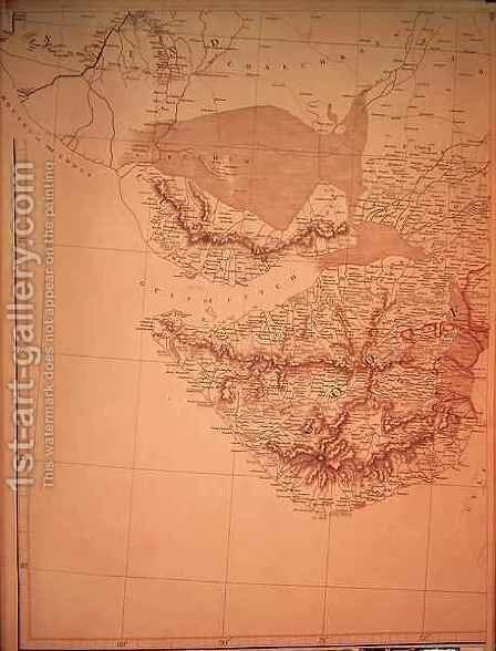 Map of Western India by Aaron Arrowsmith - Reproduction Oil Painting