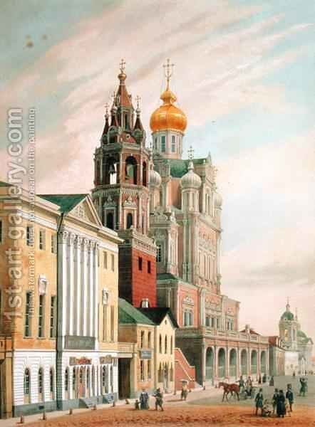 The Assumption Church at Pokrovskaya street in Moscow by (after) Arnout, Louis Jules - Reproduction Oil Painting