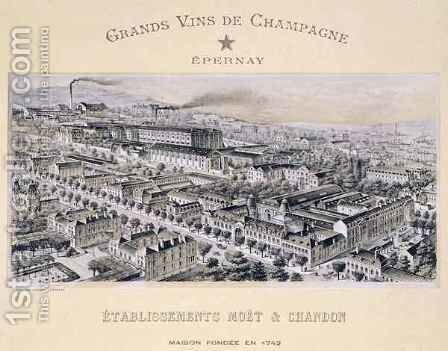 Moet and Chandon company, Epernay by B. Arnaud - Reproduction Oil Painting
