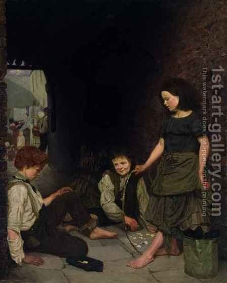 Manchester and Salford Children by Thomas Armstrong - Reproduction Oil Painting