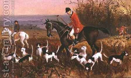 Hunting Scene from Pardon Hall, Essex by Elisabeth Arkwright - Reproduction Oil Painting