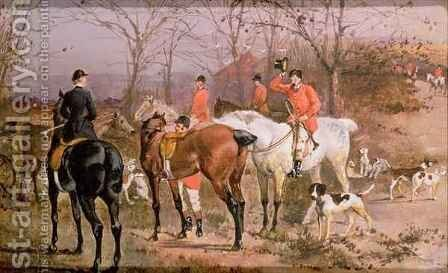 Hunting Scene from Pardon Hall, Essex 2 by Elisabeth Arkwright - Reproduction Oil Painting