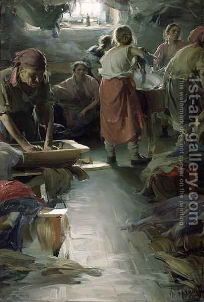 Laundresses by Abram Efimovich Arkhipov - Reproduction Oil Painting