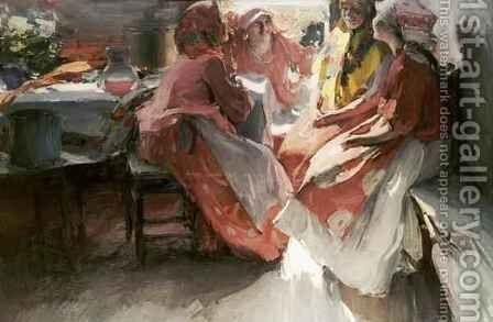 On a Visit by Abram Efimovich Arkhipov - Reproduction Oil Painting