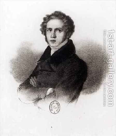 Portrait of Vincenzo Bellini (1801-35) by (after) Arienti, Carlo - Reproduction Oil Painting