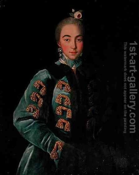 Portrait of Countess Anna Sheremetyeva by Ivan Petrovich Argunov - Reproduction Oil Painting