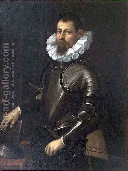 Portrait of Cesare d'Este by Cesare Aretusi - Reproduction Oil Painting