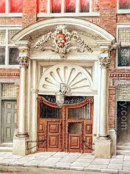 Gateway to Brewers Hall in Addle Street, City of London by J. Appleton - Reproduction Oil Painting
