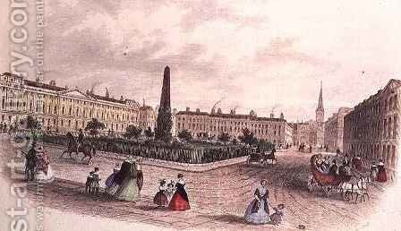 Queen Square, Bath by J. Appleby - Reproduction Oil Painting