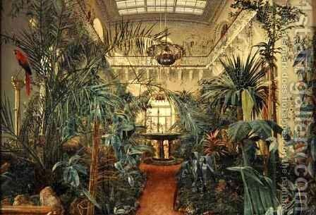 Winter Garden in the Winter Palace, St. Petersburg by Michail Ivanovich Antonov - Reproduction Oil Painting