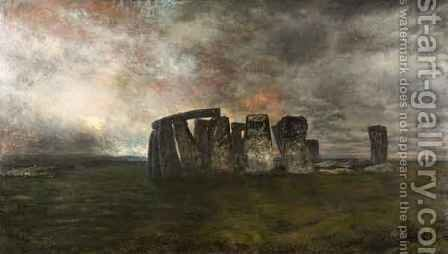 Stonehenge by Henry Mark Anthony - Reproduction Oil Painting