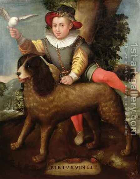 Boy and Dog, 'Bibius Vincit' by Sofonisba Anguissola - Reproduction Oil Painting