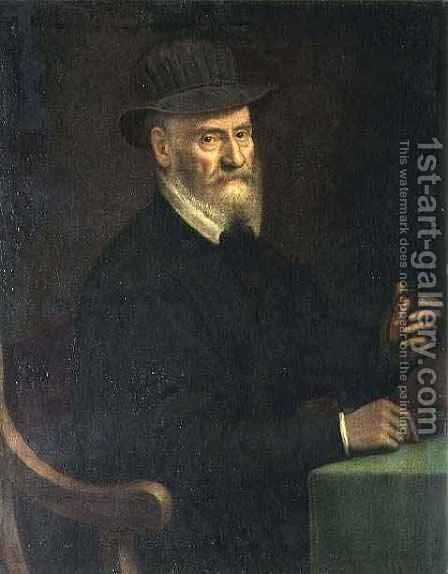 Portrait of Giulio Clovio (1498-1578) by Sofonisba Anguissola - Reproduction Oil Painting