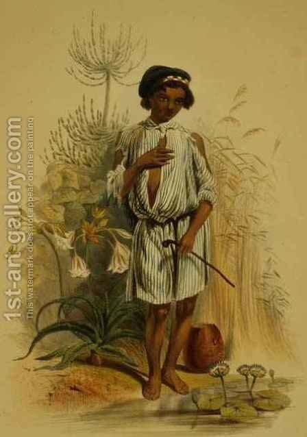 Charley, a Half Caste Kafir Boy by (after) Angas, George French - Reproduction Oil Painting