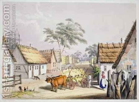 A village of German settlers near Adelaide by (after) Angas, George French - Reproduction Oil Painting