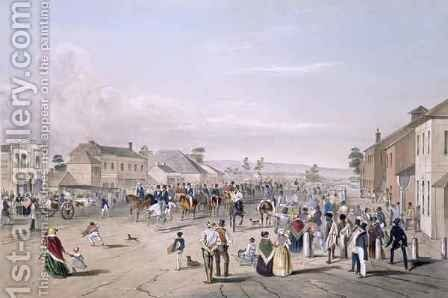 Departure of Captain Sturt by (after) Angas, George French - Reproduction Oil Painting