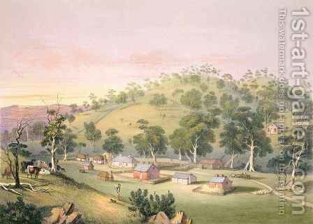 Evening at Angaston, South Australia by (after) Angas, George French - Reproduction Oil Painting
