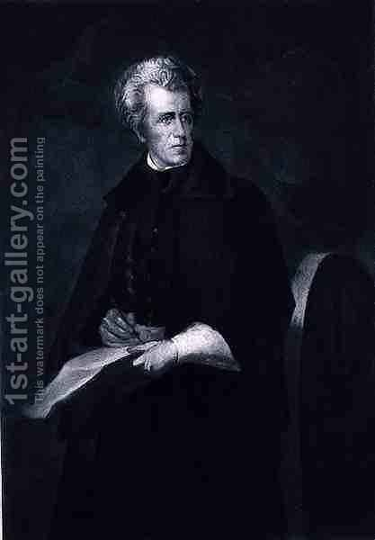 Andrew Jackson, 7th President of the United States of America by (after) Andrews, Eliphalet Frazer - Reproduction Oil Painting