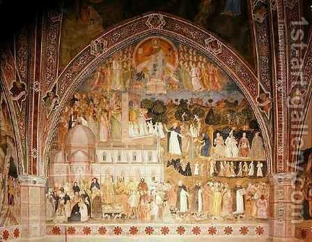 The Church Militant and Triumphant, in the Spanish Chapel by Bonaiuto (Andrea da Firenze) Andrea di - Reproduction Oil Painting