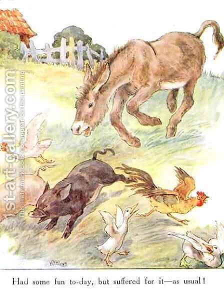 'Had some fun to-day, but suffered for it - as usual', illustration from 'The Naughty Neddy Book' by Anne Anderson - Reproduction Oil Painting