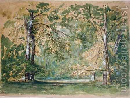 View of the Park at Chantilly by Auguste-Paul-Charles Anastasi - Reproduction Oil Painting