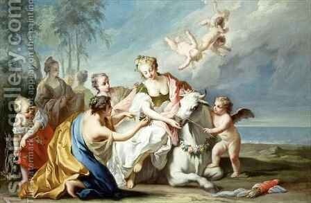 The Rape of Europa by (after) Jost Amman - Reproduction Oil Painting