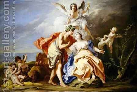 Bacchus and Ariadne 2 by Jacopo (Giacomo) Amigoni - Reproduction Oil Painting