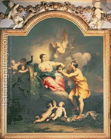 Juno Receives the Head of Argus by Jacopo (Giacomo) Amigoni - Reproduction Oil Painting
