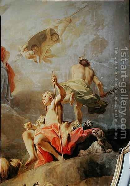 The Judgement of Paris by Jacopo (Giacomo) Amigoni - Reproduction Oil Painting