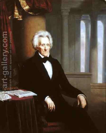 Andrew Jackson by Jacques Amans - Reproduction Oil Painting