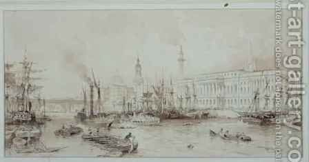 The Port of London by Allote - Reproduction Oil Painting